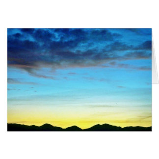 Sunset Over Panamint Mountains Greeting Cards