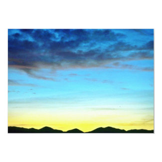 Sunset Over Panamint Mountains Personalized Invitation