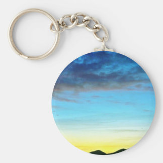 Sunset Over Panamint Mountains Keychain