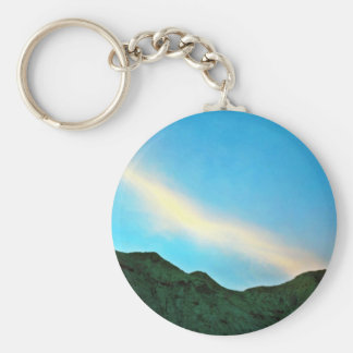 Sunset Over Panamint Mountains Keychains