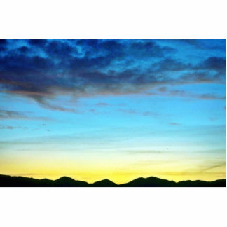 Sunset Over Panamint Mountains Photo Cut Out
