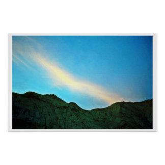 Sunset Over Panamint Mountains Posters