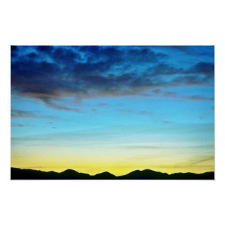 Sunset Over Panamint Mountains Poster