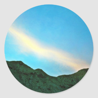 Sunset Over Panamint Mountains Round Sticker