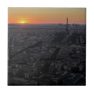 Sunset over Paris Ceramic Tile