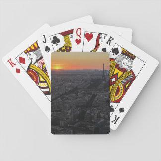 Sunset over Paris Playing Cards