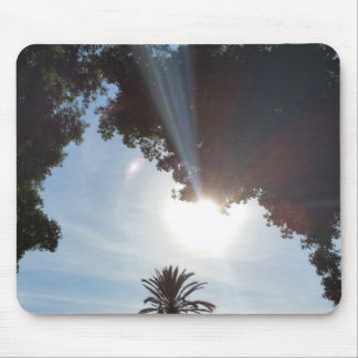 sunset over parkland mouse pad