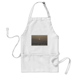 Sunset over Paros island mountains Adult Apron