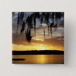 Sunset over Paynes Prairie Lake Button