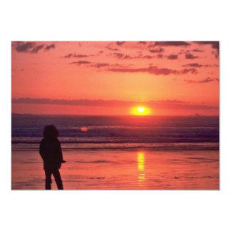 Sunset Over Peaceful Sea 5x7 Paper Invitation Card