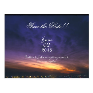 Sunset Over Phoenix Save The Date Postcard