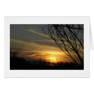 Sunset Over Pittsburgh Stationery Note Card