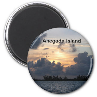 Sunset over Pomato Point Fridge Magnets