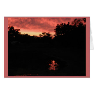 Sunset Over Pond Cards