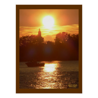 Sunset Over Presque Isle Poster