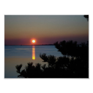 Sunset Over Provincetown Poster