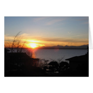 Sunset over Puget Sound Card
