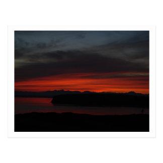 Sunset over Puget Sound Post Cards