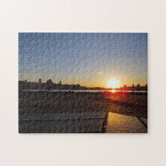 Sunset Over Quebec City Puzzle