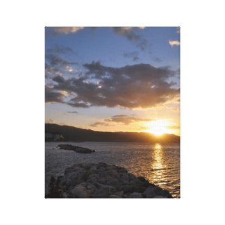 Sunset over Rocks Canvas Print