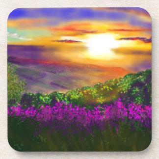 Sunset over Rosedale Drink Coaster