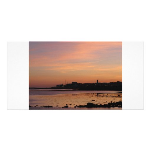 Sunset over Salthill Custom Photo Card