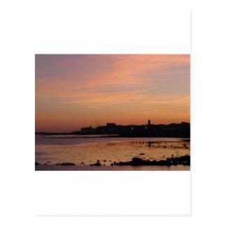 Sunset over Salthill Postcard