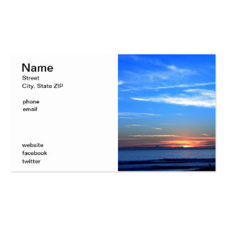 Sunset Over Santa Cruz Island Double-Sided Standard Business Cards (Pack Of 100)