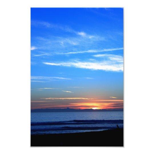 Sunset Over Santa Cruz Island Photo Print