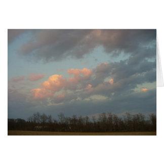Sunset Over Scuttlehole Card