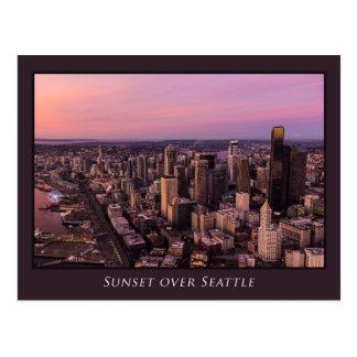 Sunset over Seattle Postcard