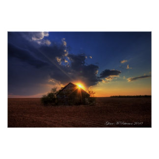 Sunset Over Shack VIII Poster
