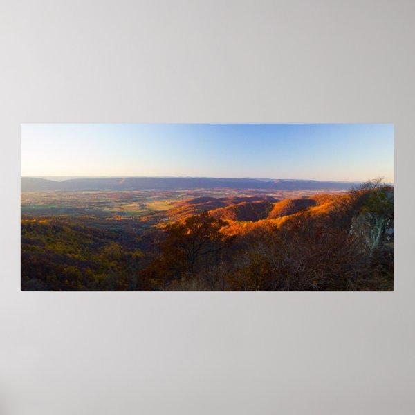 Sunset over Shenandoah National Park, Virginia Poster