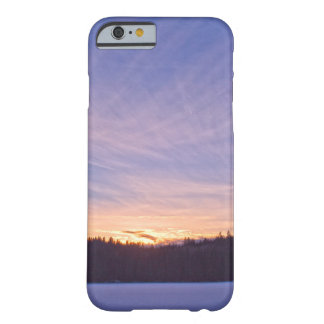 Sunset over Snow-covered Winter Lake & Trees Barely There iPhone 6 Case