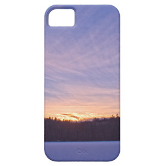 Sunset over Snow-covered Winter Lake & Trees iPhone SE/5/5s Case
