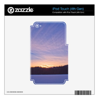 Sunset over Snow-covered Winter Lake & Trees iPod Touch 4G Decal
