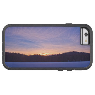 Sunset over Snow-covered Winter Lake & Trees Tough Xtreme iPhone 6 Case
