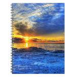 Sunset Over Snow Notebook