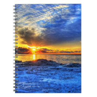 Sunset Over Snow Notebook