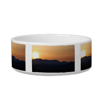 Sunset Over Snowy Mountains Bowl