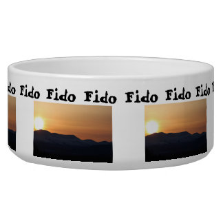 Sunset Over Snowy Mountains; Customizable Bowl