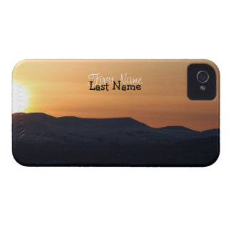 Sunset Over Snowy Mountains; Customizable iPhone 4 Cover