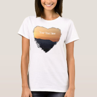 Sunset Over Snowy Mountains; Customizable T-Shirt
