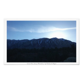 """""""Sunset Over Snowy Mountains,"""" Nature Photo Print"""