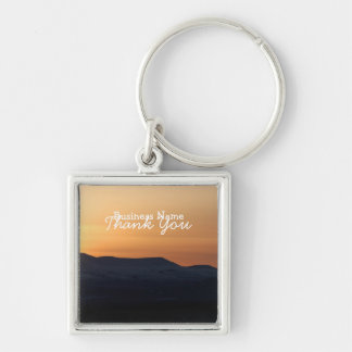 Sunset Over Snowy Mountains; Promotional Key Chain