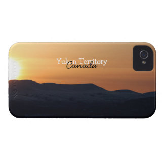Sunset Over Snowy Mountains; Yukon Souvenir Case-Mate iPhone 4 Case