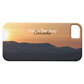 Sunset Over Snowy Mountains; Yukon Souvenir iPhone SE/5/5s Case