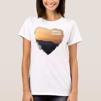 Sunset Over Snowy Mountains; Yukon Souvenir T-Shirt