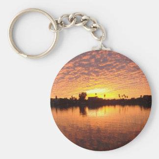 Sunset Over St Pete Beach Basic Round Button Keychain