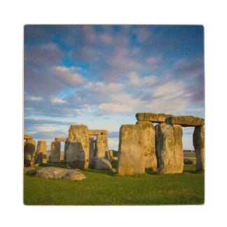 Sunset over Stonehenge, Wiltshire, England Wooden Coaster